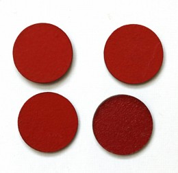 circle red magnets pack of four
