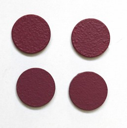 circular mauve magnets pack of four