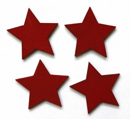 star red magnets pack of four