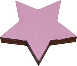 star pink magnets pack of four