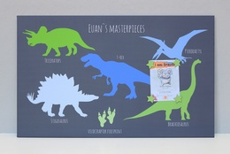 dinosaur noticeboard personalised