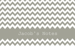 Grey Chevron Personalised
