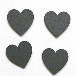 Grey Heart Magnets