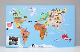 Illustrated World Map