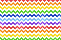 Large Rainbow Chevron