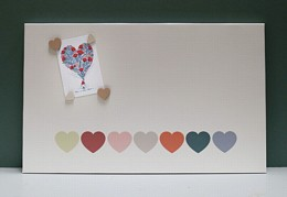 Natural Hearts Magnetic Noticeboard