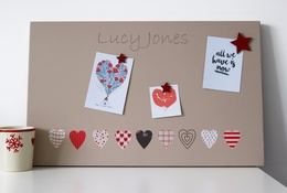 Hearts personalised noticeboard
